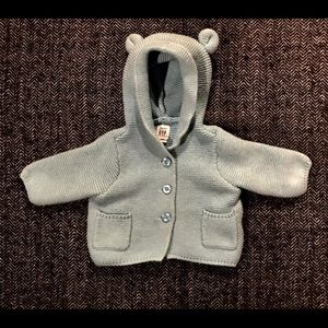 🎆sale🎆Gap blue teddy bear sweater. Size0-3